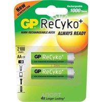 Фото GP Batteries AA 2100mAh NiMh 2шт ReCyko+ (210AAHCB)