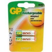 Фото GP Batteries AAA 800mAh NiMh 2шт (80AAAHC)