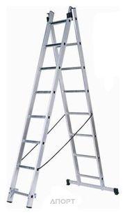 Фото Кратон Лестница двухсекционная алюминиевая 2х7 ст. (2 14 04 004)
