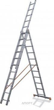 Фото Эйфель Трехсекционная лестница алюминиевая монтажная 3х11 Премьер