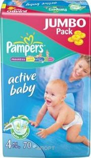 Фото Pampers Active Baby Maxi 4 (70 шт.)