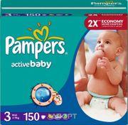Фото Pampers Active Baby Midi 3 (150 шт.)