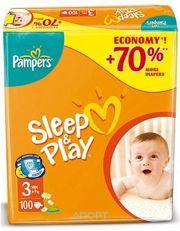 Фото Pampers Sleep&Play Midi 3 (100 шт.)