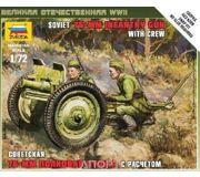 Фото ZVEZDA Советская 76-мм полковая пушка - сборка без клея (ZVE6145)