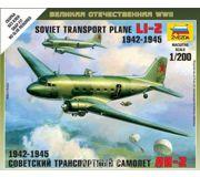 Фото ZVEZDA Советский транспортный самолет Ли-2 (ZVE6140)