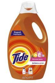 Фото Tide Жидкий стиральный порошок Весенние цветы 1.235 л (2.85 кг)