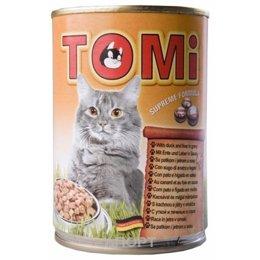 TOMi Консервы для кошек с уткой и печенью 0,4 кг