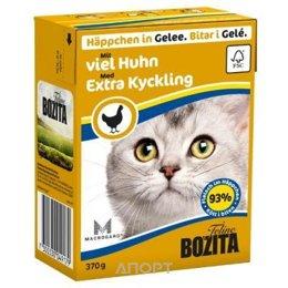 Bozita Feline кусочки в желе с рубленной курицей 370 г