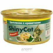 Фото Gimpet ShinyCat цыпленок с креветками 70 г