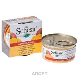 Schesir Консервы для кошек (с тунцом, манго и рисом) 75 г