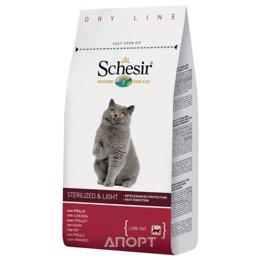Schesir Sterilized and Light облегченный сухой корм для кошек (с курицей) 1,5 кг