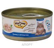 Фото МНЯМС Консервы для кошек Тунец с анчоусами в нежном желе 0,07 кг