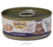 Фото МНЯМС Консервы для кошек Тунец с дорадо в нежном желе 0,07 кг