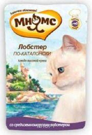 Фото МНЯМС Влажный корм для кошек Лобстер по-каталонски (средиземноморский лобстер) 0,085 кг