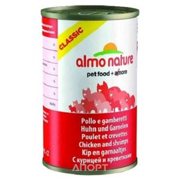 Almo Nature Classic Adult Cat Chicken and Shrimps 0,14 кг