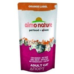 Almo Nature Orange Label Adult Cat Beef 0,105 кг
