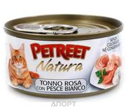Фото Petreet Natura Кусочки розового тунца с рыбой дорада 70 г