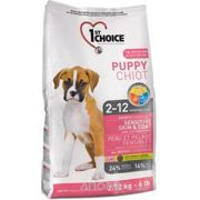 Фото 1st CHOICE Puppies All Breeds - Sensitive skin & coat 2,72 кг
