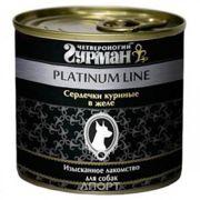 Фото Четвероногий Гурман Platinum line Сердечки куриные 0,24 кг