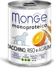 Фото Monge Monoproteico Fruits Паштет из индейки с рисом и цитрусовыми 400 г