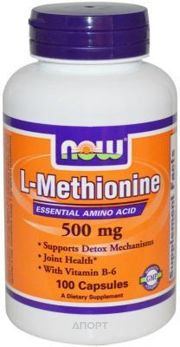 Фото Now L-Methionine 500mg 100 caps