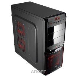Aerocool V3X Devil Red Edition Black
