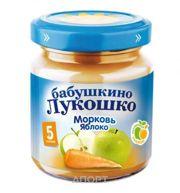 Фото Бабушкино Лукошко Пюре Морковь, яблоко, с 5 мес, 100 г