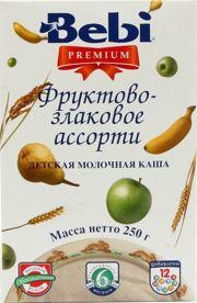 Фото Bebi Premium Каша молочная фруктово-злаковое ассорти 250 г
