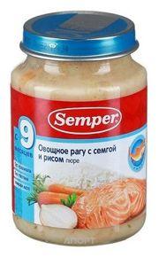 Фото Semper Пюре Овощное рагу с семгой и рисом, с 9 мес. 190 г