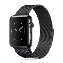 Apple Watch Series 2 42mm Stainless Steel Case with Milanese Loop Band (MNPU2)