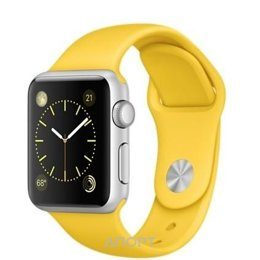 Apple Watch Sport 42mm Silver Aluminum Case with Yellow Sport Band (MMFE2)