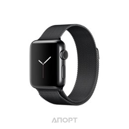 Apple Watch Series 2 38mm Stainless Steel Case with Midnight Blue Modern Buckle Band (MNP92)