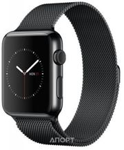 Фото Apple Watch Series 2 42mm Space Black Stainless Steel Case with Space Black Milanese Loop (MNQ12)