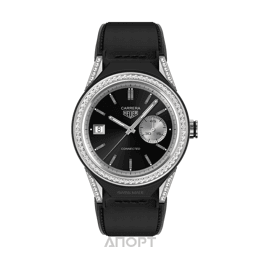 TAG Heuer Connected Modular 45 Black Calfskin Strap with Diamond Bezel (SBF8A8011.62FT6079)