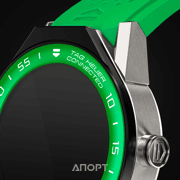 Фото TAG Heuer Connected Modular 45 Green Rubber with Green Aluminium Bezel (SBF8A8018.11FT6083)