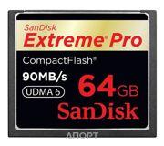 Фото SanDisk CF eXtreme Pro 64Gb (SDCFXP-064G-X46)