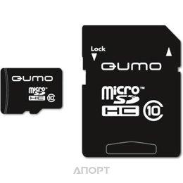 Qumo microSDHC Class 10 + SD adapter 8Gb