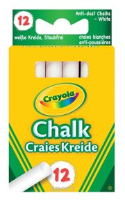 Фото Crayola 12 белых мелков (0280)