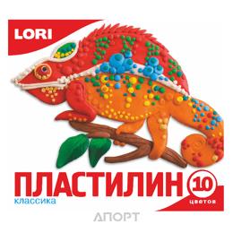 Lori Пластилин Классика, 10 цветов, без европодвеса (Пл-006)